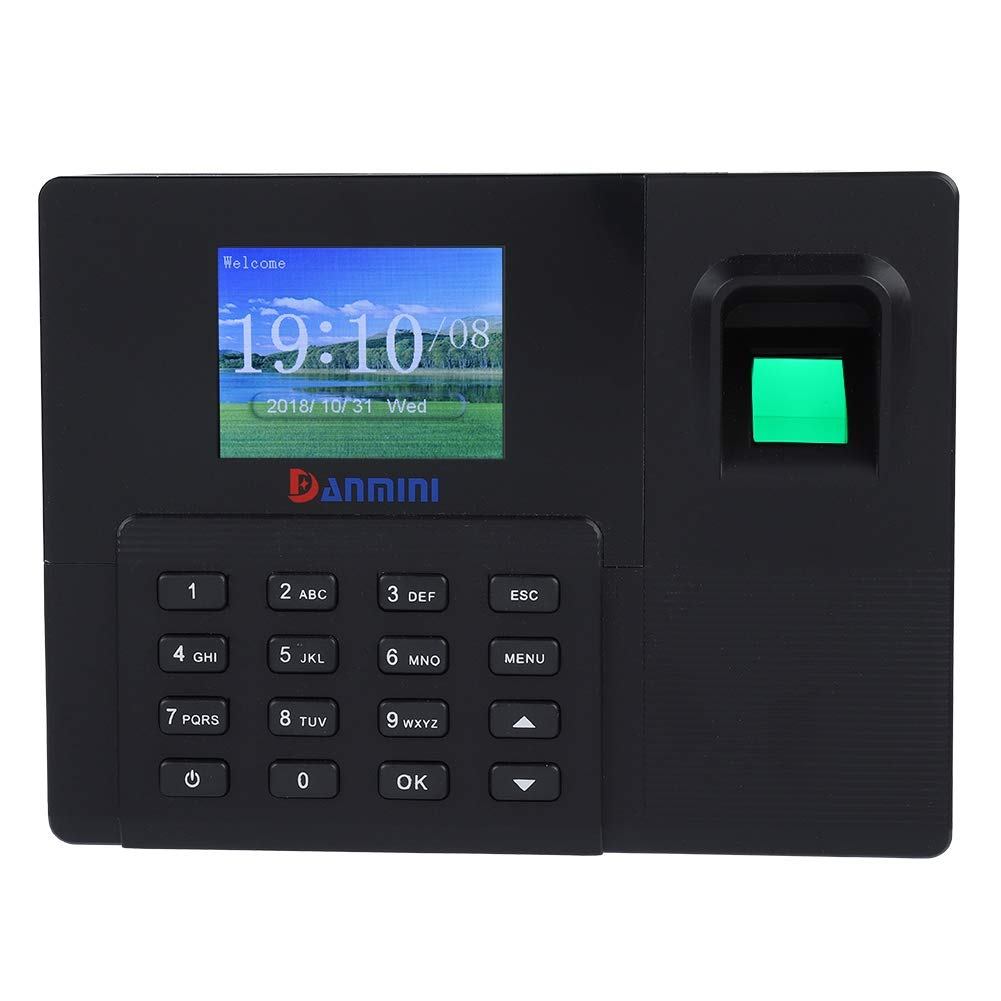 Ciglow Attendance Machine, 2.8 Inch TFT LCD Biometric Fingerprint Password Attendance Time Clock Machine Support U Disk Fingerprint Recorder for Offices, Factories, Hotels, Schools, etc. (us) by Ciglow