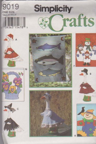OOP Simplicity Craft Pattern 9019. Seasonal Yard Flags & Sea