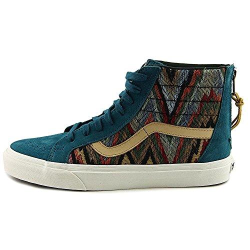 Vans Femmes Sk8-hi Zip Ca Haut Haut Lacets Up Fashion Sneakers Italien Weave / Pigsde / Atlntcdp