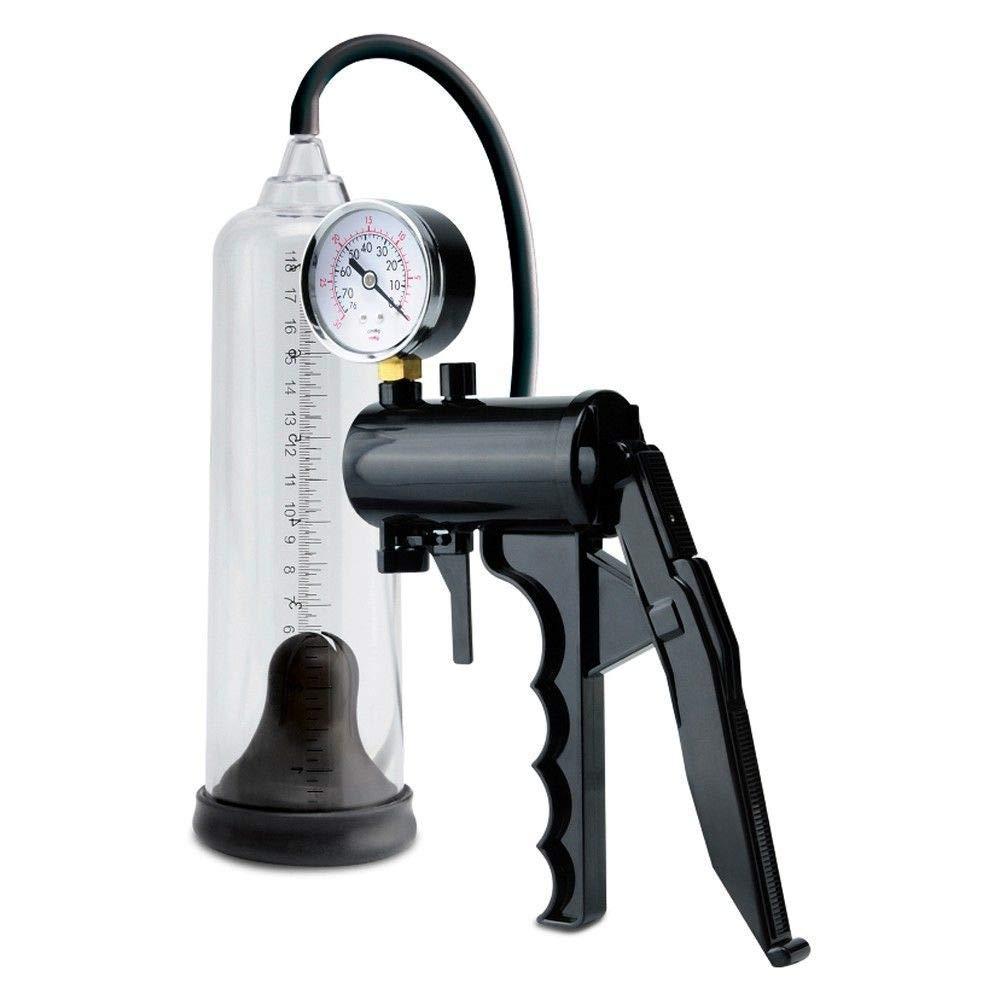 1OP9488 Power Massage Pump Male Enlarger Girth Enhancer w/Pressure Gauge