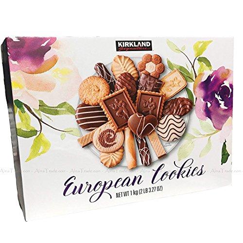 (Kirkland Signature European Cookies with Exquisite Chocolate Collection 14 Vareties Flavor Exquisite European Biscuit Cookies Assortment Made with 32% Chocolate European Chocolate - 2.2 Lb (1 Kg))