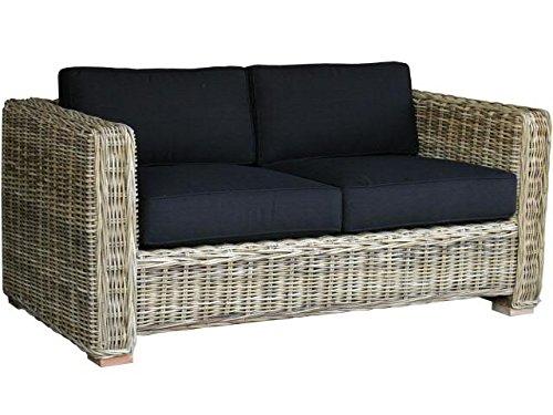 Gartencouch - 2er Sofa - Rattan - mit Kissen - 160cmx85cmx70cm - Gartenmöbel
