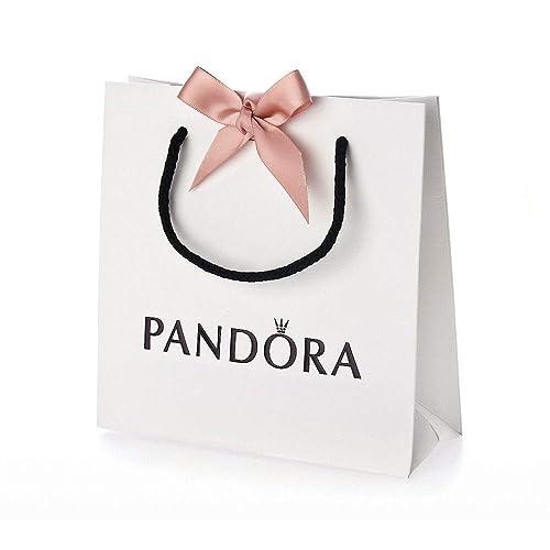 più recente a86fe 0a13c Pandora Borsa Regalo Colore Bianco con Fiocco Rosa