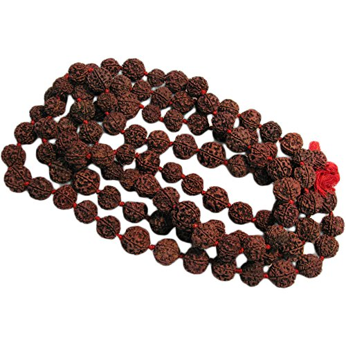 Large 16mm 108 Rudraksha 5-Face Beads Prayer Japa Mala Knotted Rosary (16mm 5 Beads)
