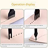 Citian Alloy Stainless Steel 4pcs 3mm 1/2/4/6 Prong Lacing Diamond Stitching Chisel Hole Punches Tool,Sharp Pricking Iron Leather Craft Tool Sets DIY Handwork