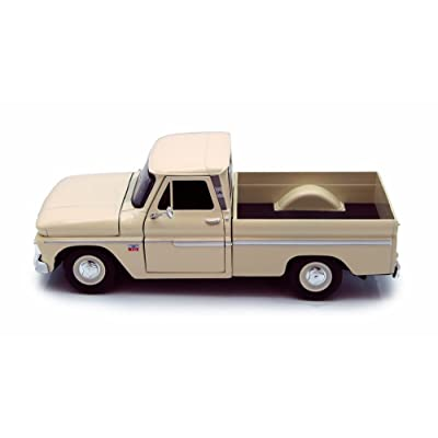 Motor Max 1966 Chevy C10 Pickup Truck, Cream 73355L - 1/24 Scale Diecast Model Toy Car but NO Box: Toys & Games