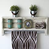 White Reclaimed Towel Rack