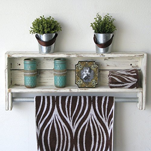 White Reclaimed Towel Rack by Doug and Cristy Designs