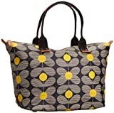 Orla Kiely Matt Laminated Daisy Stem Print Easy Zip 13SEDAS131-7010-00 Tote,Yellow,One Size, Bags Central