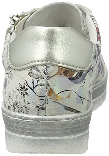 Sneakers D5800 Donne Low Metallico Multicolore top Remonte Argento offwhite I4OqwZpO