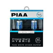 PIAA 23-10104 Xtreme White Hybrid H4 Bulb (3900K - 12V 60/55W), 2 Pack