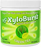 Focus Nutrition, XyloBurst 100% Xylitol Gum, Green Tea Gum, 100 Count Jar, Natural Chewing Gum, Non GMO, Vegan, Aspartame Free, Sugar Free