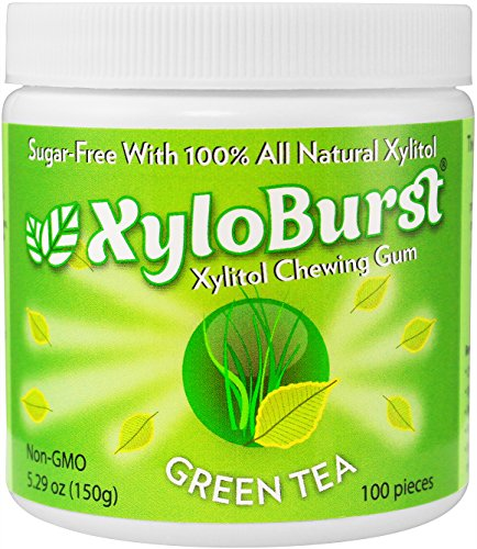 XyloBurst Gum Jar Green Tea 100 count (5.29oz)