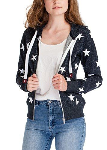Crochet Jewel Neck Sweater (Basic Thin Solid Star Printed Color Block Zip Up Hoodie Sweatshirt Hoodies)