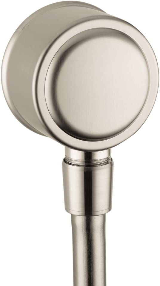 16884821 AXOR 1//2-inch Thread Connection Upgrade 3-inch Classic Wall Outlet in Brushed Nickel