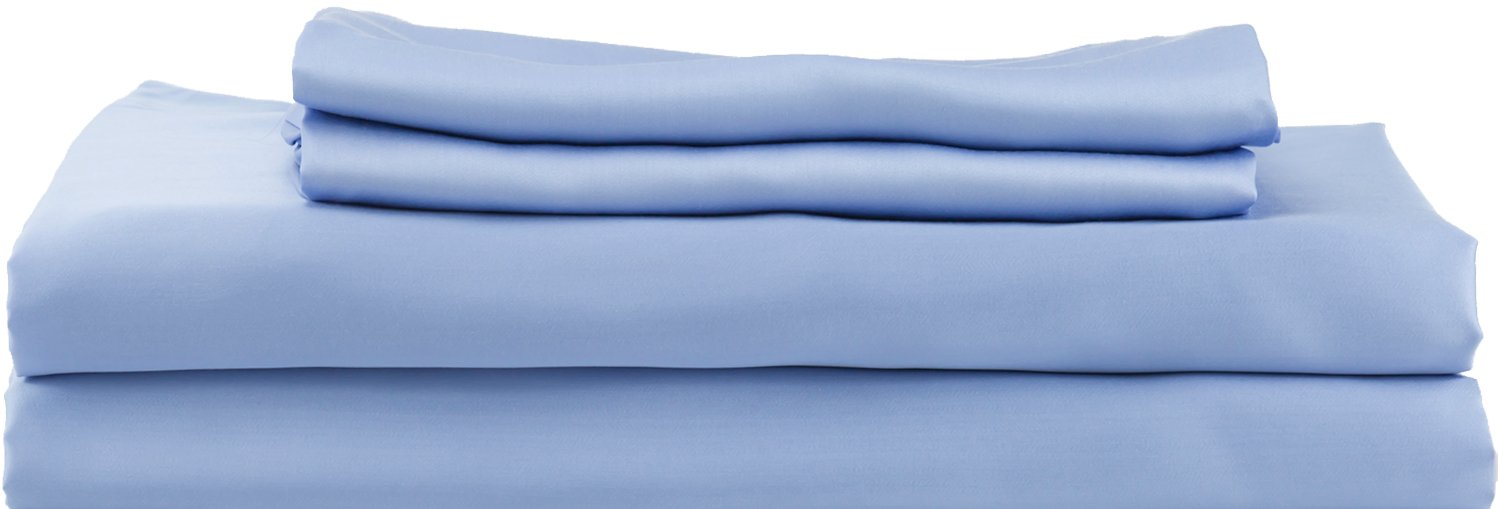 Hotel Sheets Direct 100% Bamboo Bed Sheet Set (Queen, Light Blue)