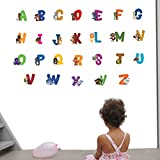 Decals Design 'Animal Alphabets' Wall Sticker (PVC Vinyl, 90 cm x 60 cm)