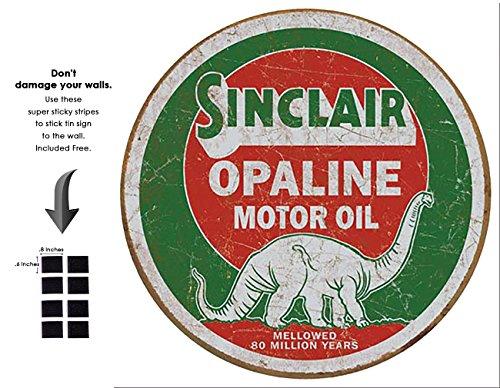 (Shop72 - Sinclair Tin Signs Retro Vintage Gas Tin Sign n Oil Tin Sign Wall Decor Garage -)