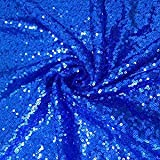 1 Yard Royal Blue Sequin Fabric Sparkly Fabric MeshSequin FabricbyTheYard for Dress DIY Sewing or Wedding/Party Decor (1