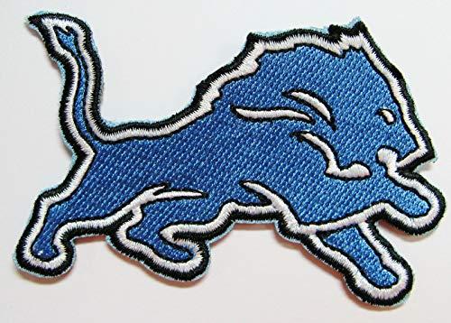 (NFL Detroit Lions Football Logo Patch Patches 3 1/4