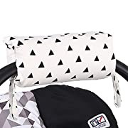 Black Triangle Car Seat and Baby Carrier Cushion by The Peanut Shell
