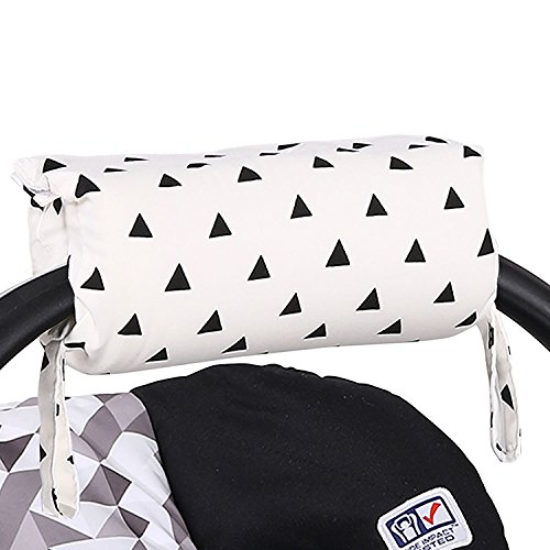 Black Triangle Car Seat and Baby Carrier Cushion by The Peanut - Shell Handle