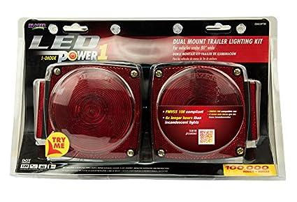 Blazer C7280 LED Rectangular Low Profile Submersible Trailer Light Kit