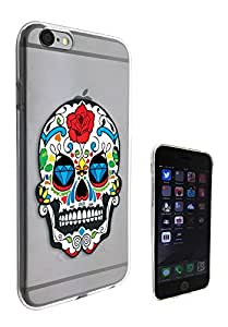 c0207 - Mexican Sugar Skull Skulls Design iphone 5 5S Fashion Trend CASE Gel Rubber Silicone Protective Case Clear Cover