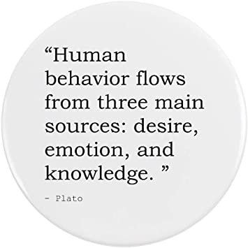 Stamp Press 77mm Human Behavior Flows From Three Main Sources