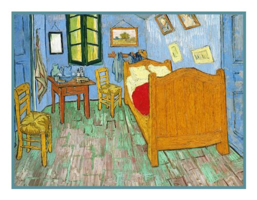 Originals Cross Stitch Pattern (The Bedroom by Vincent Van Gogh Counted Cross Stitch Pattern)