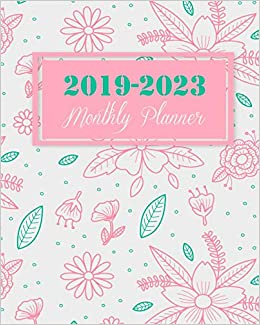 2019 blooming floral monthly planner
