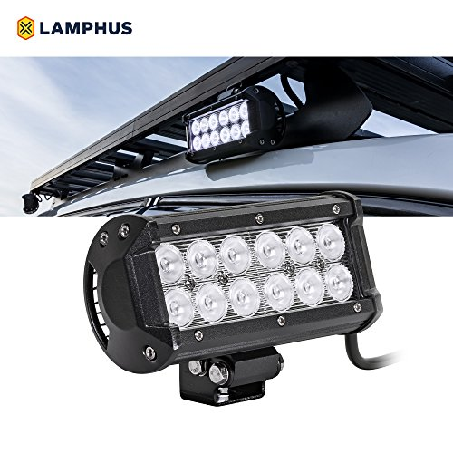 "LAMPHUS CRUIZER 6.5"" 36W CREE LED Off Road Go Kart Truck Marine Boat Light Bar (OTHER SIZES AVAILABLE) - Flood"