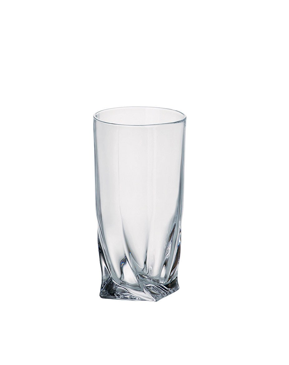 Barski Glass - Lead Free - Hiball Crystalline - Highball - Glasses With a Twist On The Bottom - 11.75 oz. - Made in Europe - Set of 6 by Barski