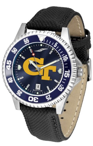 Georgia Tech Yellow Jackets Competitor AnoChrome Men's Watch - Color Bezel by SunTime