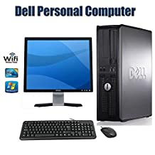 PC Desktop Computer !!! Dell OptiPlex 780 Desktop Computer with 17 Inch Dell Monitor- Intel Core 2 Duo 2.93 GHz 4GB RAM 160GB HDD DVD ROM Windows 7 Pro 64 Bit Keyboard, Mouse WiFi