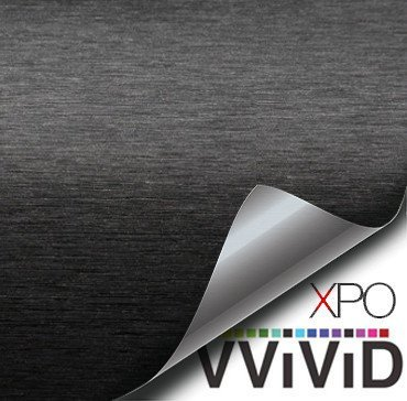 VViViD Black Brushed Anodized Aluminum 5ft x 5ft 25sq ft Cast Vinyl Decal New Bubble-Free Car Wrap Interior