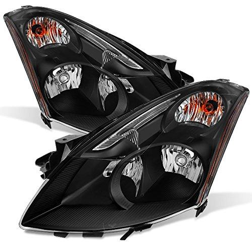 For [Xenon HID Type - Black] 2010 2011 2012 Altima 4 Door Sedan Left + Right Side Headlights Pair Set