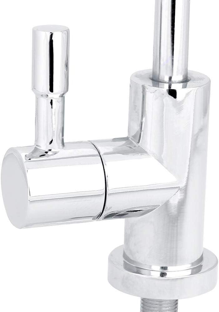 Fdit 1//4  aleaci/ón de Zinc Grifo de la Cocina Grifo Cromo /ósmosis inversa RO manijas del Grifo del Filtro de Agua Potable