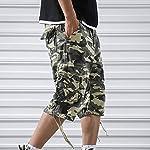 OEAK Shorts Cargo Homme Rétro Baggy Pantacourt Camouflage Outdoor Bermudas Casual Combat Pantalon Court Militaire Multi… 11