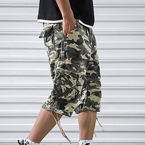 OEAK Shorts Cargo Homme Rétro Baggy Pantacourt Camouflage Outdoor Bermudas Casual Combat Pantalon Court Militaire Multi… 4