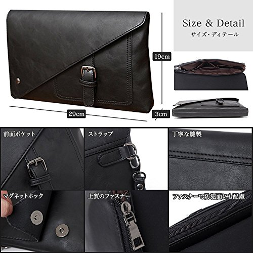 Black Handbag Ladies Clutch Bag Clutch Mens Bag Bag qPBtH1w