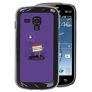 A-type Arte & diseño plástico duro Fundas Cover Cubre Hard Case Cover para Samsung Galaxy S Duos S7562 (Cake Diet Funny Poster Motivational)