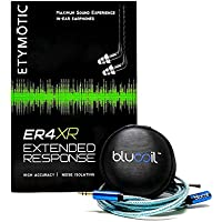 Etymotic Research ER4XR Extended Range In Ear Monitors PLUS Blucoil Earbuds Case PLUS Blucoil 6 Foot Extender - VALUE BUNDLE