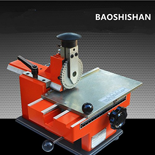 Semi-automatic manual marking machine aluminum labeling coding machine equipment parameter label printer (2.5mm) by BAOSHISHAN