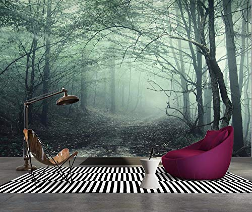 - Muralayf Custom Wallpaper European Retro Forest Trail Landscape Mural Tv Background Wall Living Room Bedroom Mural 3D Wallpaper128Cmx100Cm