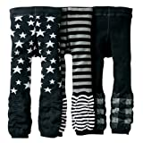 Kubeer 3pc 1-6T Baby Pants Kid Girl Leggings Leg Warmer Toddler Trousers Clothes
