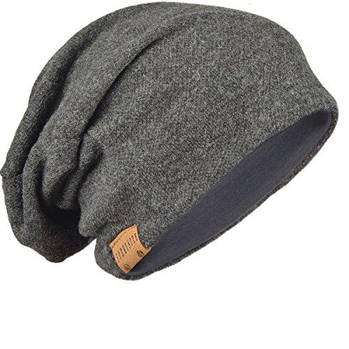 FORBUSITE Men Women Slouch Beanie Basic Skull Cap Designer B010 (Dark Gray)