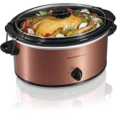 Hamilton Beach 5-Quart Portable Slow Cooker, Copper