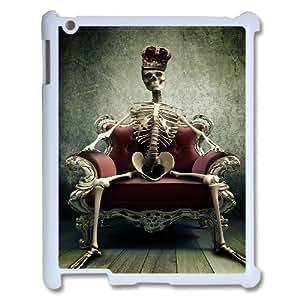 3D Skeleton King Queen Crown IPad 2,3,4 2D Case White by ruishername