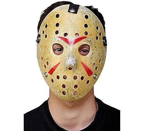 EUROCARNAVALES Máscara de Hockey con Agujeros 20 cm: Amazon.es: Juguetes y juegos